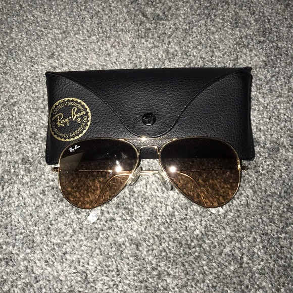 Ray-Ban Accessories - Ray Ban Gold Lined Aviators